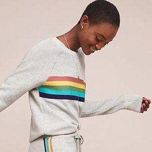 Sunday light grey rainbow sweatshirt